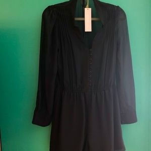 BCBGeneration NWT Romper Jumper Sheer Sleeves